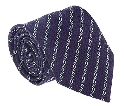 e9e47aede64bb Image Unavailable. Image not available for. Color: Ermenegildo Zegna Purple- Blue Chain Link Tie ...