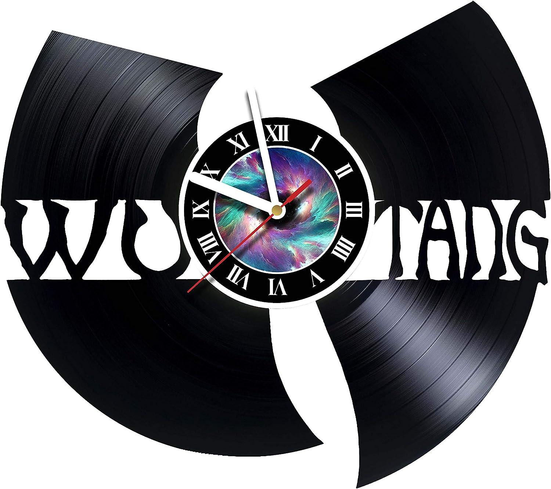 Wu Tang Clan - Wall Clock Made Of Vinyl Record - Handmade - Vintage - Home Decor -Original Gift Idea for Birthday Wedding Anniversary Christmas For Friends Men Women Girls Boys Teens & Everyone!