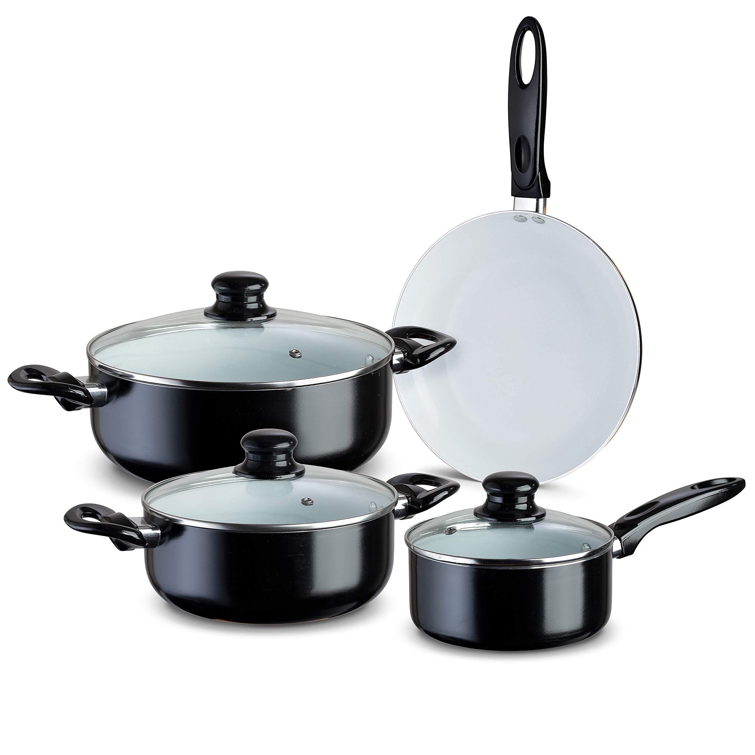 Chef's Star 7 Piece Professional Grade Aluminum Non-stick Pots & Pans Set