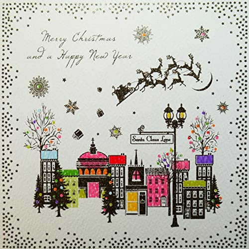 merry christmas happy new year boxed christmas cards 6 cards per box