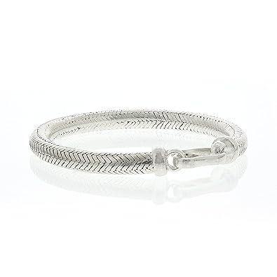 meilleur site web bf50a 89a84 Bijouterie Colimaçon - Bracelet snake rond en argent ...