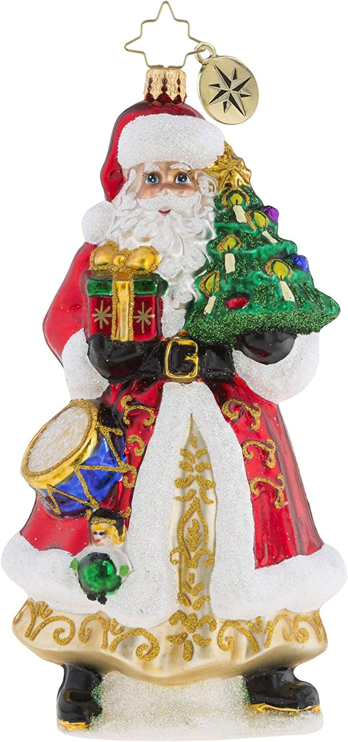 Christopher Radko Hand-Crafted European Glass Christmas Decorative Figural Or...