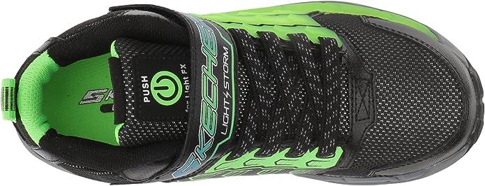 Skechers Kids Boys' Light Storm Sneaker, BlackLime, 2.5