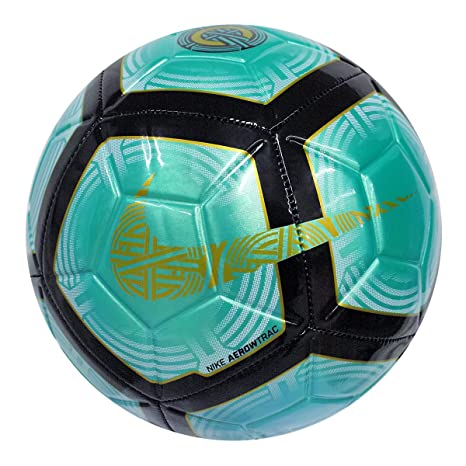 8f94ba7d04b Amazon.com   Nike CR7 Strike Ball 2018 (Clear Emerald Black Gold) (5 ...