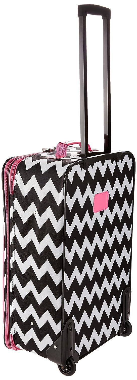 Rockland 4 Piece Pink Chevron Luggage Set One Size Fox Luggage F106-PINKCHEVRON
