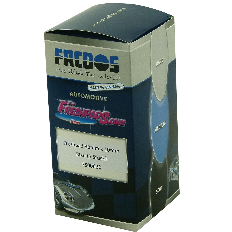 FACDOS Fresh-Pad Blau Mittelweich 150 mm x 5 mm 10 St. | fü r Hochglanz & Entfernung starker Hologramme | Mittel-weiche Polier-Scheiben | Professionelle Lackaufarbeitung fü r alle gä ngigen Lackarten
