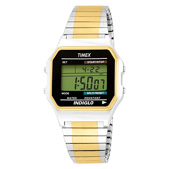 4945824ae Timex Men's T2M993 Classic Digital Dress Two-Tone Expansion Band Watch:  Timex: Amazon.ca: Watches