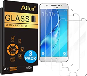 Ailun Screen Protector for Galaxy J7 2018 3Pack Tempered Glass Compatible with Samsung Galaxy J7 J7 Star 2018 J7 V 2nd Gen 2018 J7 Top 2018 J7 Aura 2018 J7 Crown 2018 Case Friendly