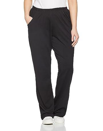 3c5abb04f13 Ulla Popken Women s Plus Size Elastic Waist Bootcut Sports Pants 640831