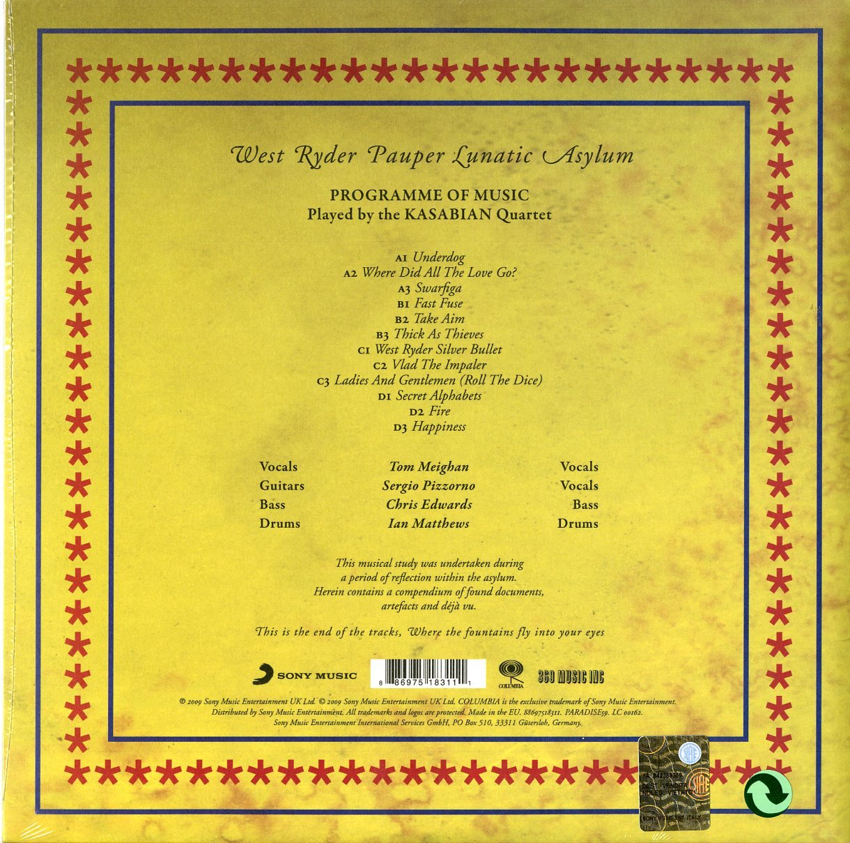 West Ryder Pauper Lunat Asylum [Vinyl]