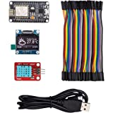 #1 Arduino WiFi ESP8266 Starter Kit for IoT, NodeMCU Wireless, I2C OLED Display, DHT11 Temperature/ Humidity Sensor, Comprehensive Manual with Exercises