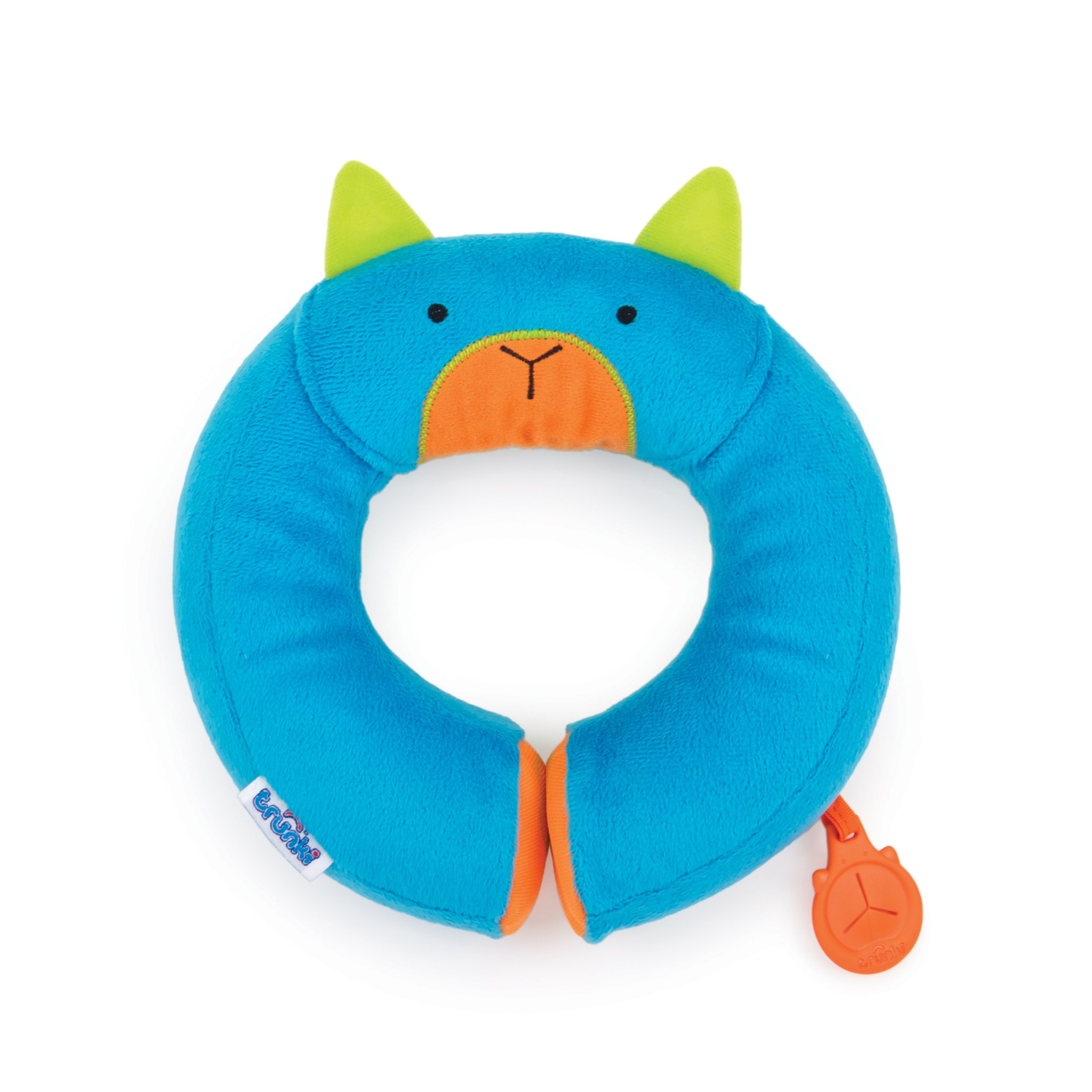 Trunki Kid's Travel Neck Pillow with Magnetic Child's Chin Support - Yondi Small Bert (Blue) by Trunki (Image #1)