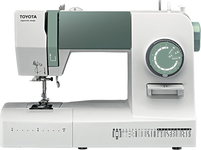 Toyota máquina de Coser (Brazo Libre, plástico, Blanco/Turquesa ...
