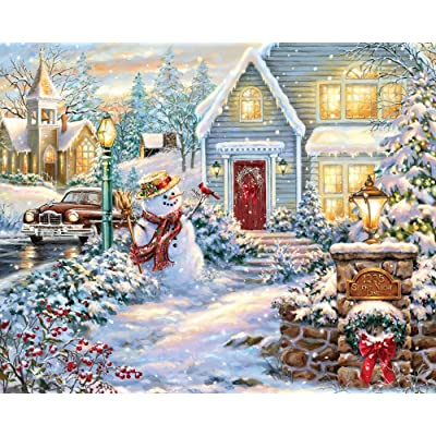 Springbok 1000 Piece Jigsaw Puzzle Silent Night Lane: Toys & Games
