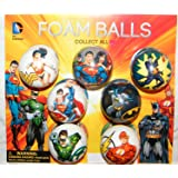 Batman, Superman, Justice League DC Superhero Figure Soft Foam Ball Toys Collection of 12 by Super Hero