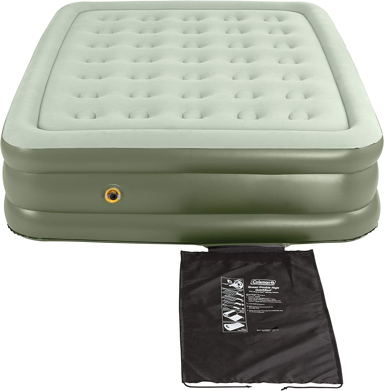 Coleman Air Mattress | Double-High SupportRest Air Bed for Indoor or Outdoor Use, Queen: Sports & Outdoors