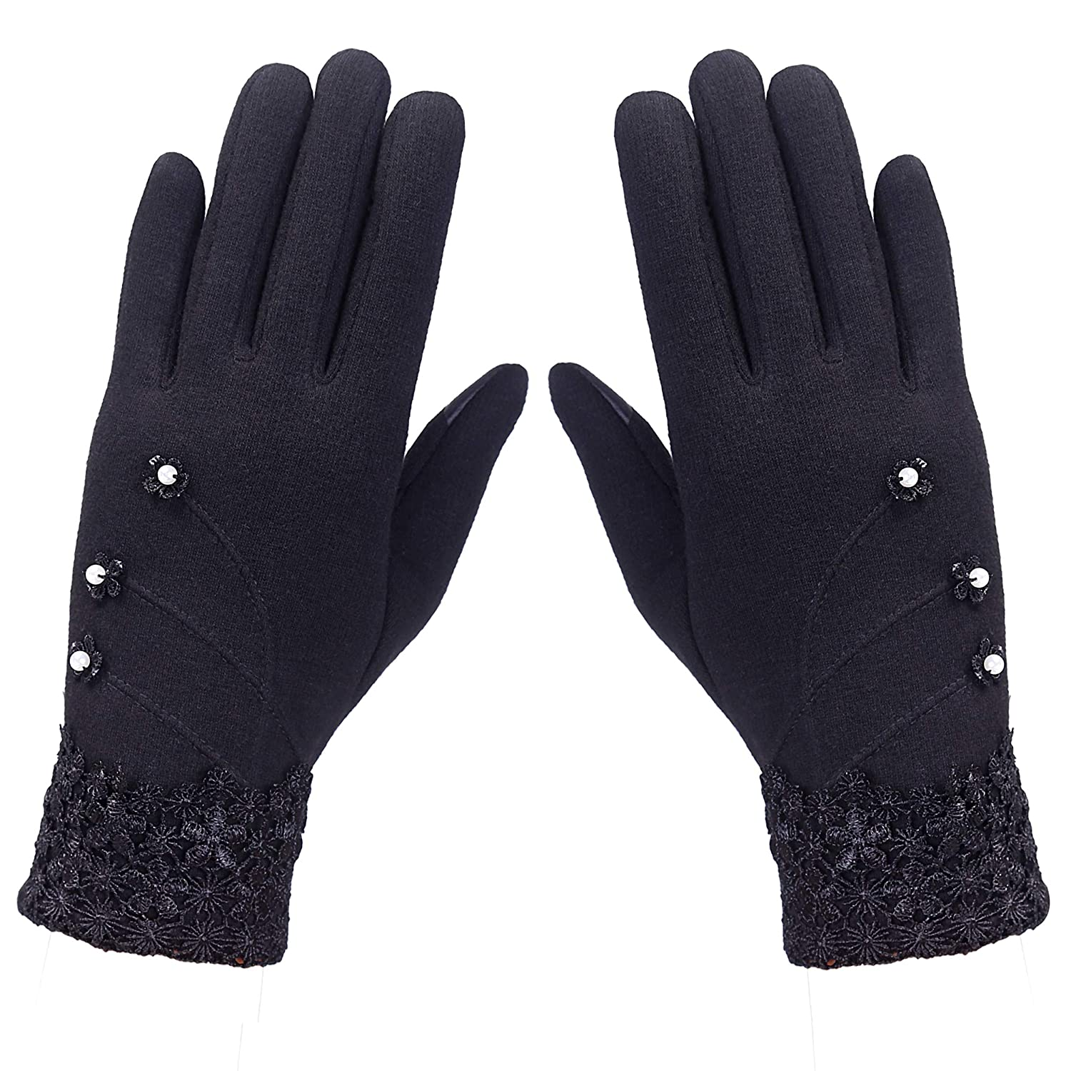 00dbfa180cf Gr8Life Women s Screen Gloves Warm Lined Thick Touch Warmer Winter Gloves  at Amazon Women s Clothing store