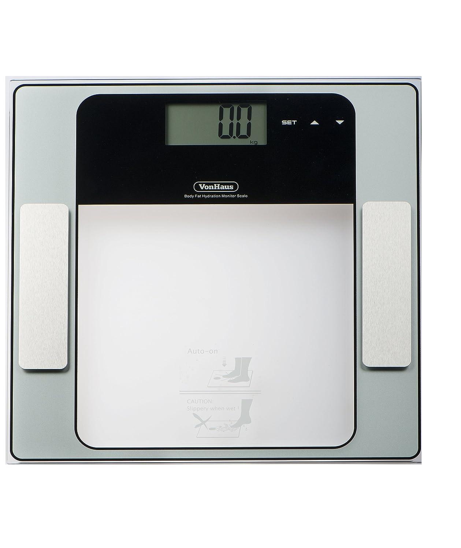 Bathroom scale body fat - Vonhaus Digital Body Fat Analyzer Bathroom Scale 23st 330lb 150kg Composition Analyzer Measures Weight Muscle Body Fat Hydration Bone