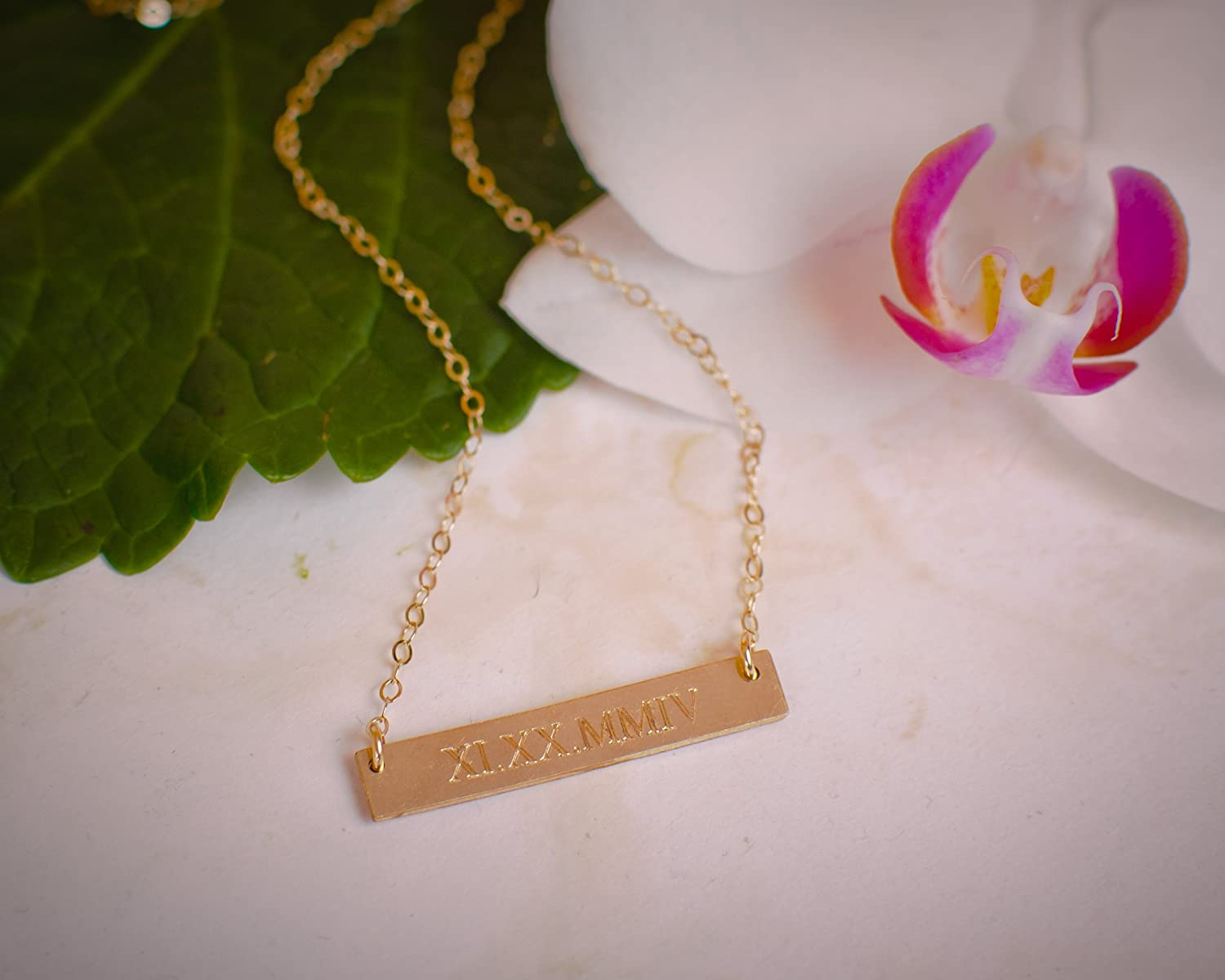and necklace name g n date bar necklaces