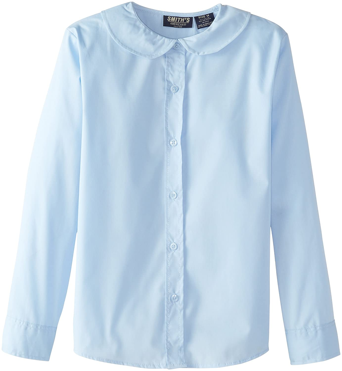 Smith's American Big Girls' Peter Pan-Collar Long-Sleeve Blouse IB24