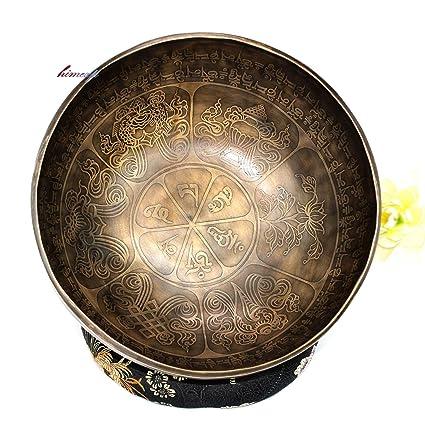 Amazon.com: 10.6 in, símbolos tibetanos y mantra tallado ...