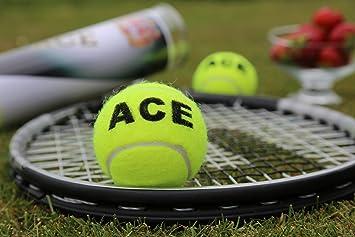 Price - Pelotas de tenis personalizadas, color amarillo: Amazon.es: Deportes y aire libre