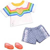 Glitter Girls Dolls by Battat – A Rainbow to Your Heart Fashion Outfit – 14-inch Doll Clothes and Accessories for Kids…
