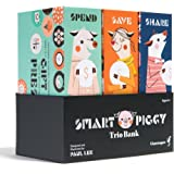 Smart Piggy Trio Bank: 3-in-1 Money-wise Educational Piggy Bank