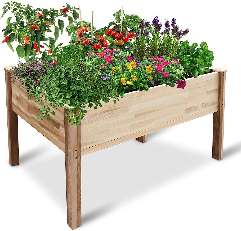 Jumbl Raised Canadian Cedar Elevated Garden Bed/ Wood Planter