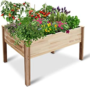 """Jumbl Raised Canadian Cedar Garden Bed 