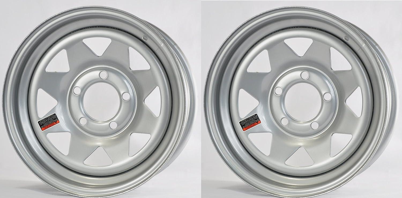 eCustomRim 2-Pack Trailer Wheel Rim 15X5 5 Lug On 4.5 in. Silver Spoke 1870 Lb.