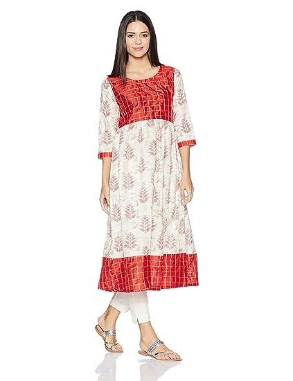 d5fbec92e Libas Women s Anarkali Kurta (3927XL Red)  Amazon.in  Clothing ...