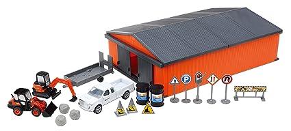 Amazon.com: Kubota construcción vehículo PLAYSET W/Shed ...
