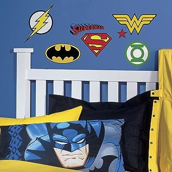 RoomMates RMK2749SCS DC Superhero Logos Peel U0026 Stick Wall Decals, 16 Count Part 80