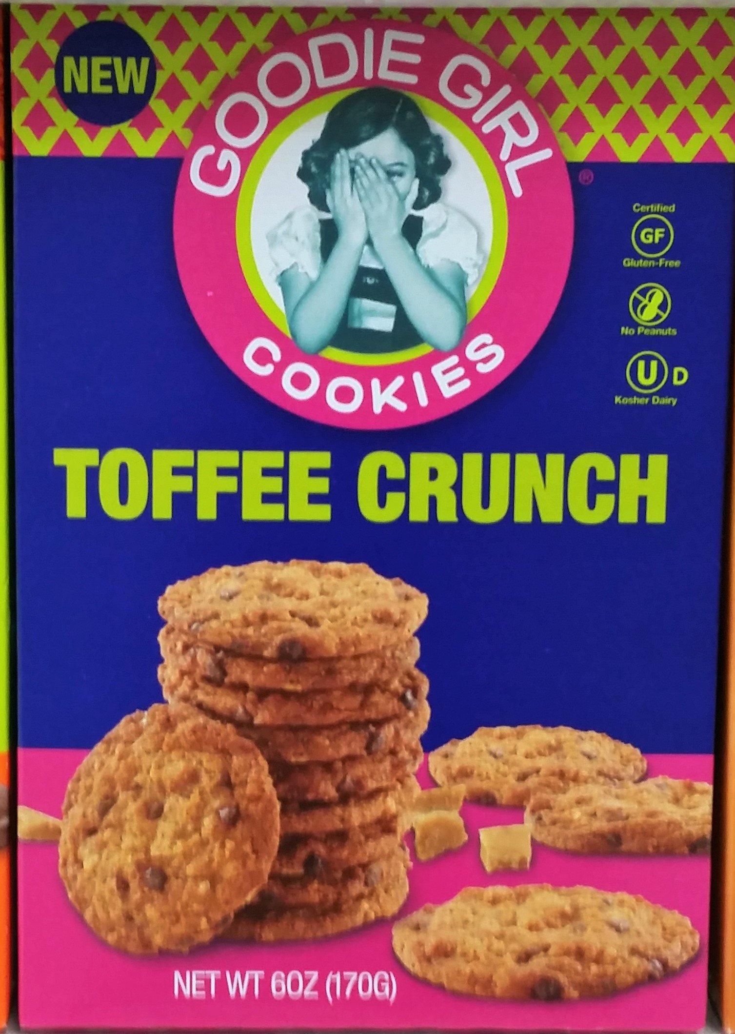 Goodie Girl Toffee Crunch Gluten Free Cookies 6 oz (Pack of 4)
