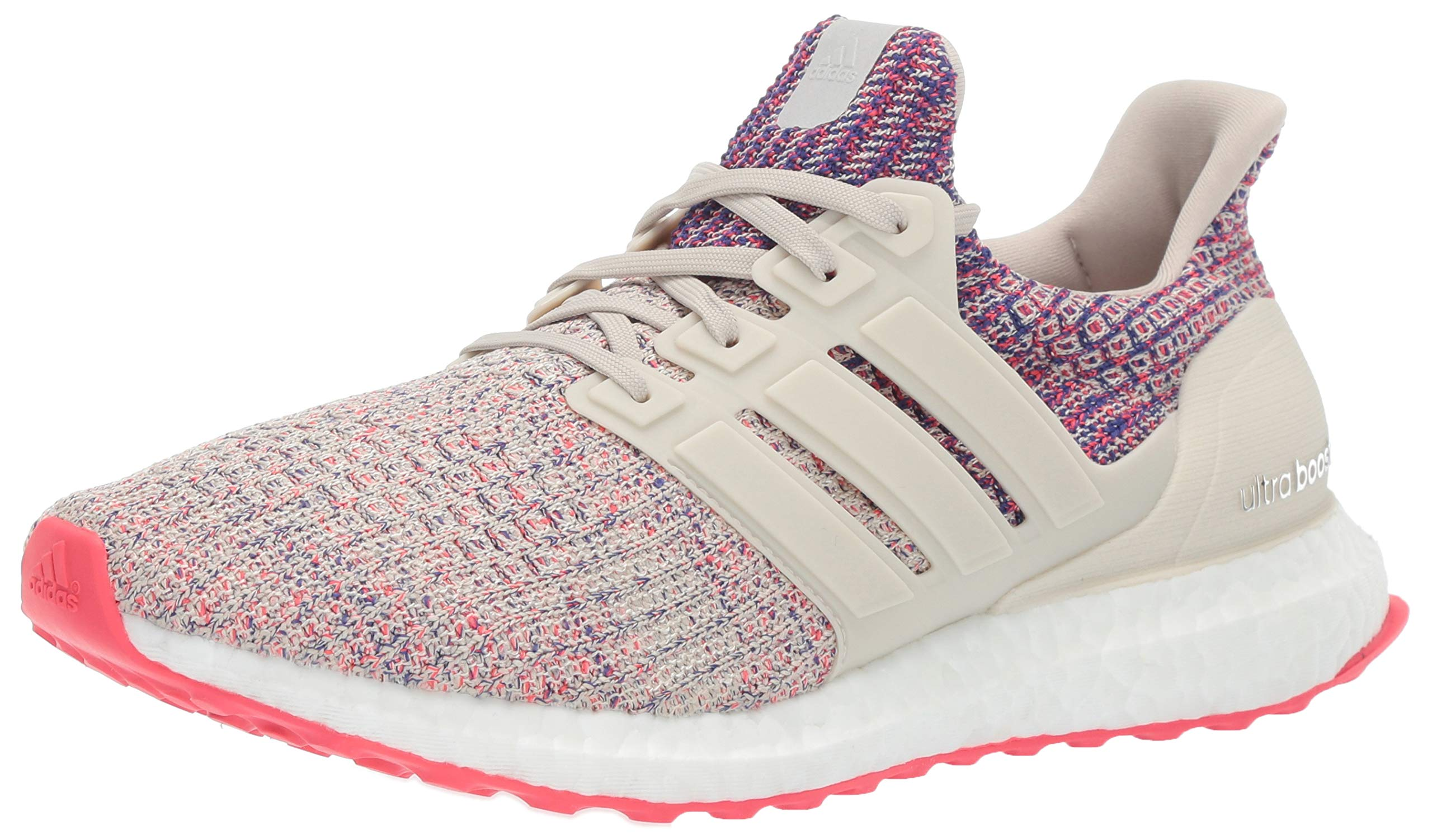 adidas Women's Ultraboost, Clear Brown/Shock red/Active Blue, 5 M US
