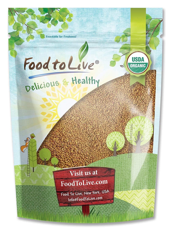 Organic Alfalfa Sprouting Seeds, 1 Pound - Non-GMO, Kosher, Raw, Vegan, Bulk: Grocery & Gourmet Food