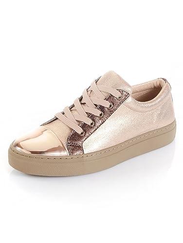 e4a54f8344ee Alba Moda Sneaker mit Glanz-Kappe: Amazon.de: Schuhe & Handtaschen