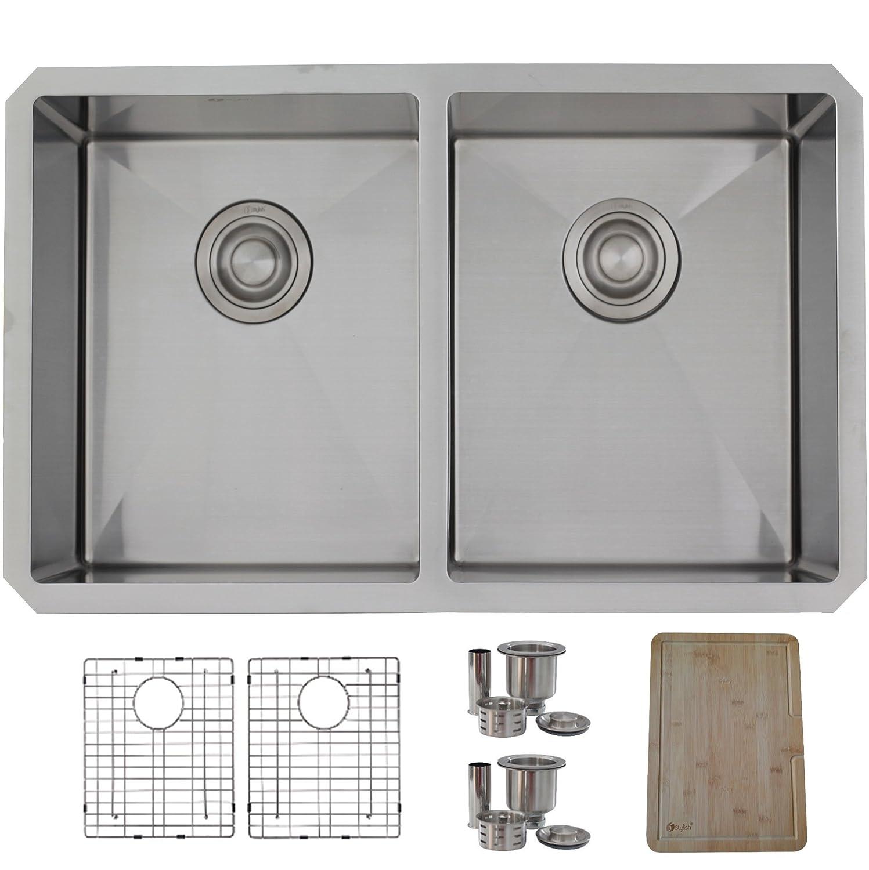28 Inch Undermount Kitchen Sink Double Bowl 5050 16 Gauge