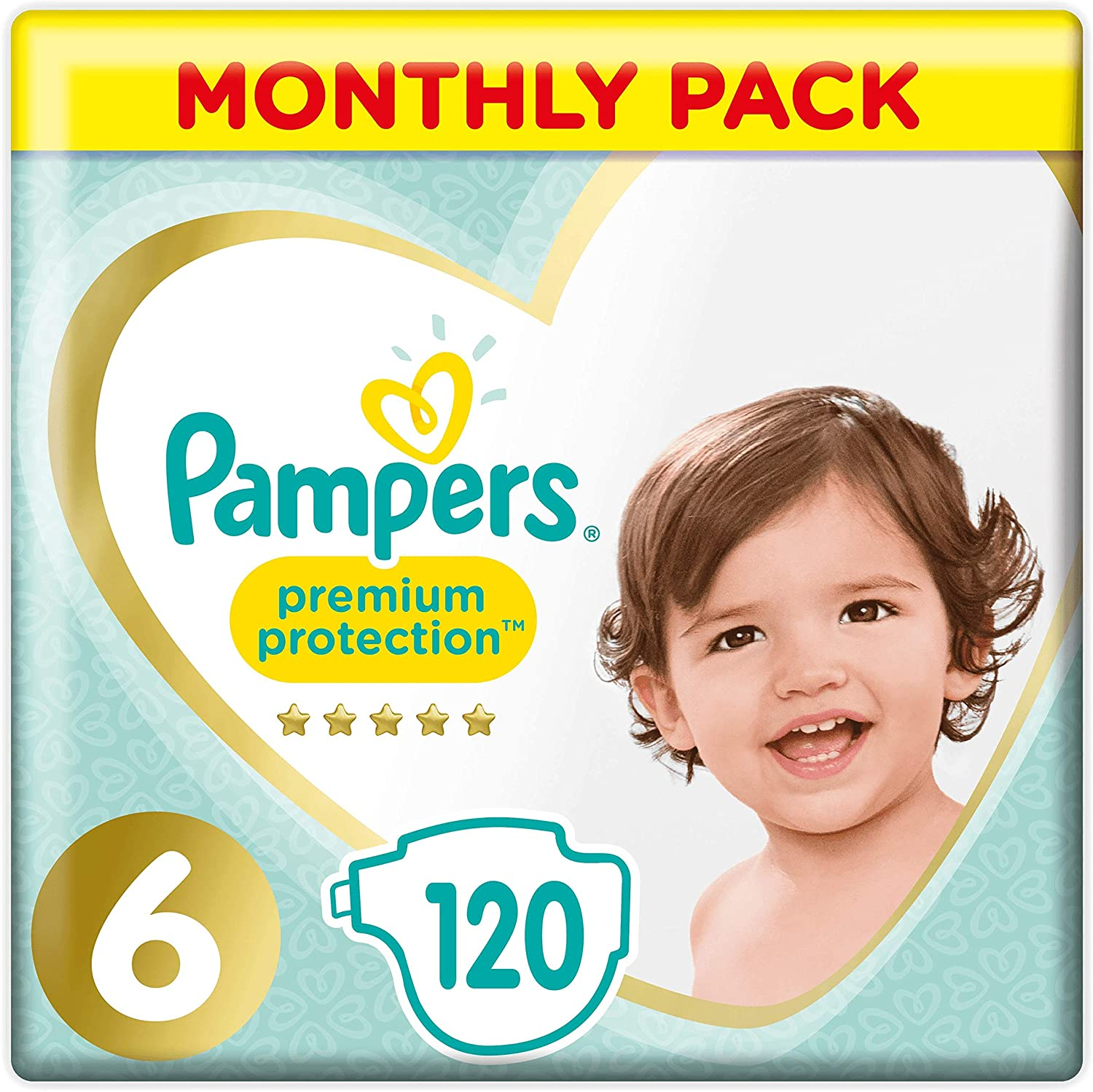 Pampers Premium Protection Size 0 6 x 24 couches Pampers Softest Comfort 24 Nappies Approved By British Skin Foundation 1.5-2.5 kg