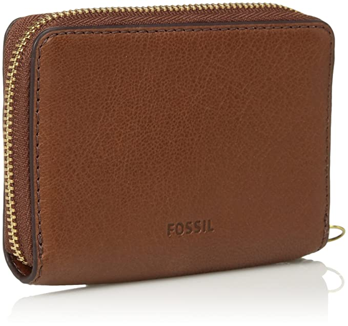Fossil Womens Fiona Leather Zip Around Coin Wallet