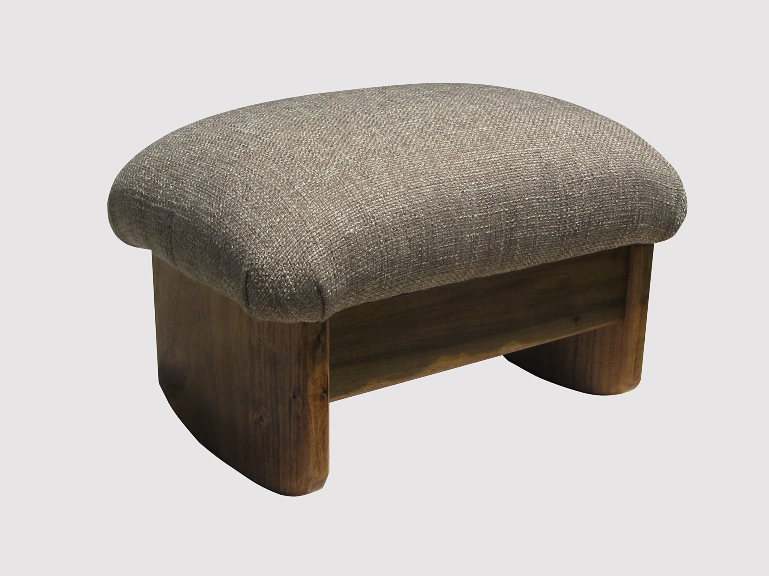 Rocking Padded Foot Stool 9'' Tall Maple Stain (Made in the USA) (Desert Sand) by KR Ideas
