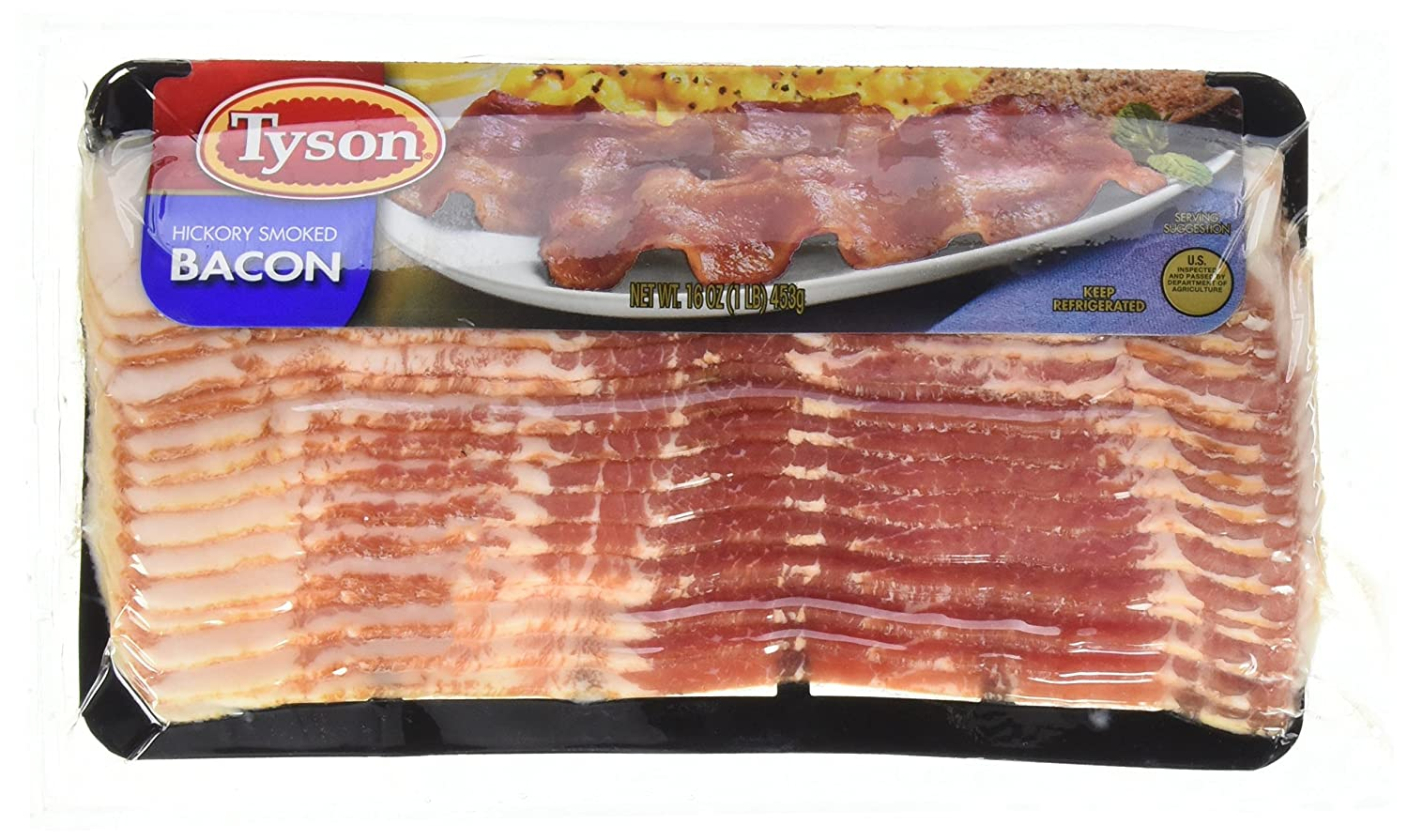Tyson Hickory Smoked Bacon 16 Oz Amazon Com Grocery Gourmet Food