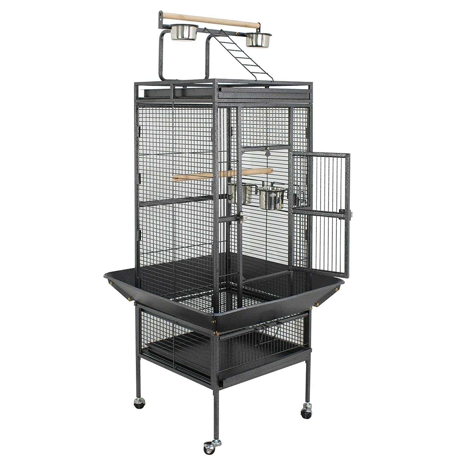 ZENY Bird Cage Wrought Iron 53/61/68-Inch Pet Bird CagePlay Top Parrot Cockatiel Cockatoo Parakeet Finches Birdcage