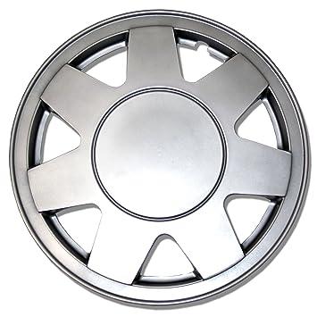 tuningpros wsc-928s15 Tapacubos rueda Skin Cover 15-inches plata conjunto de 4: Amazon.es: Coche y moto