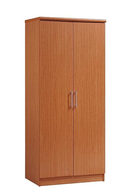 amazon com hodedah 2 door wardrobe with adjustable removable rh amazon com 2 door wardrobe with shelves uk 2 door wardrobe with shelves and drawers
