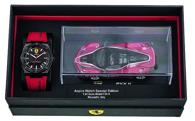 Scuderia Ferrari Reloj Analógico para Hombre de Cuarzo con Correa en Silicona 870030