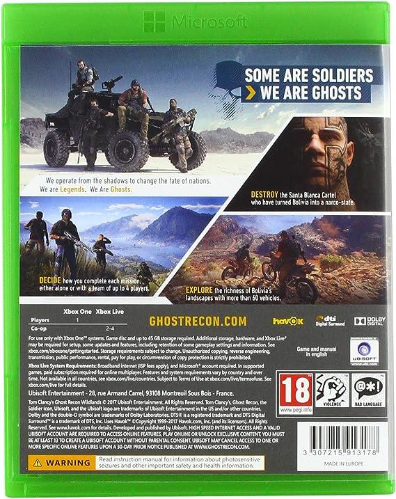 Ubisoft Tom Clancys Ghost Recon Wildlands, Xbox One Básico Xbox ...