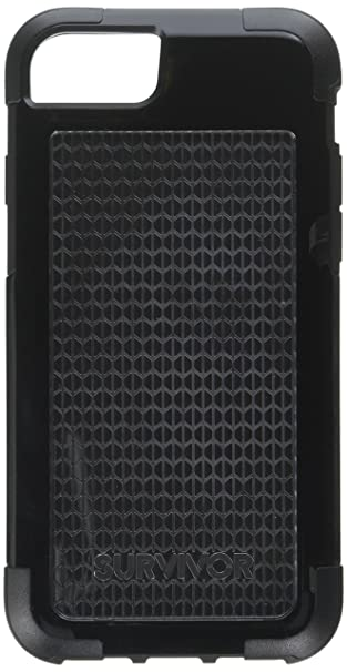 free shipping 8e88b a3c83 Griffin Survivor Fit iPhone 8 Case - Dual Layer Protective Case, Black