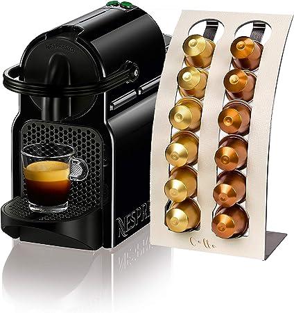Elba - Soporte para cápsulas de café en piel suave para cápsulas de café Nespresso, dispensador de solución de almacenamiento () blanco crema: Amazon.es: Hogar